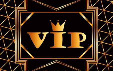 premium member: vip card design, vector illustration