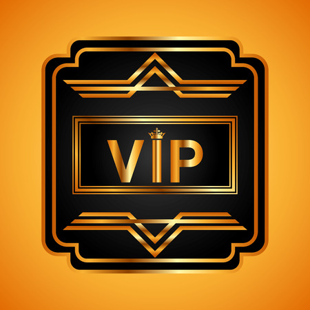 premium member: vip card design, vector illustration Illustration