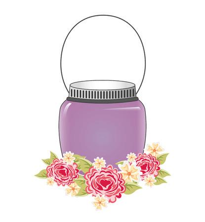 mason: mason jar design, vector illustration
