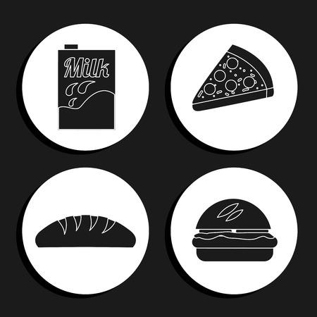 food icons: food icons design, vector illustration Illustration