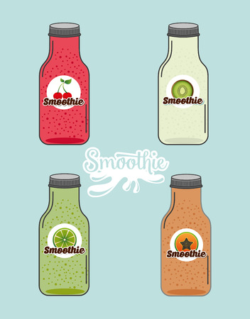 smoothie: smoothie product design, vector illustration