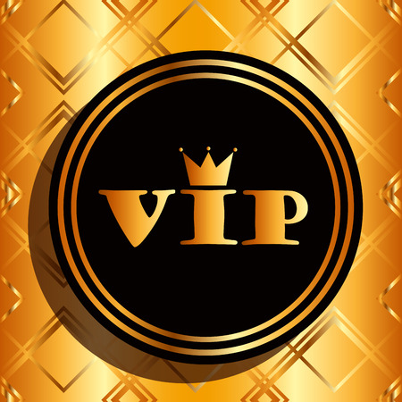 elites: vip card design, vector illustration