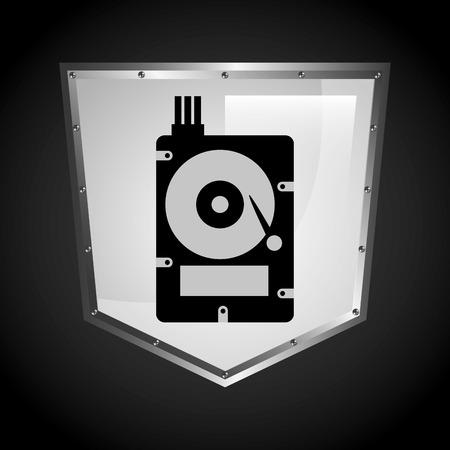 protected database: dise�o de centros de datos, ilustraci�n vectorial
