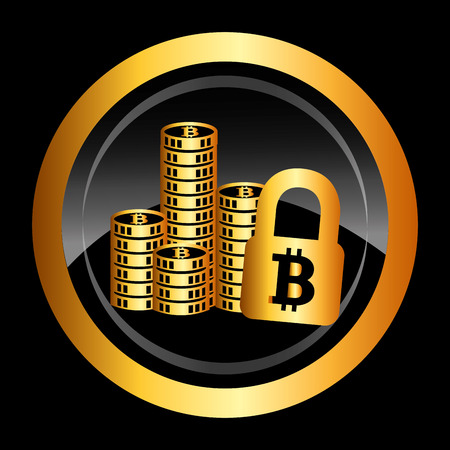 bit: bit coin design, vector illustration