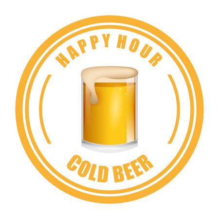 cold beer: cold beer design, vector illustration Illustration