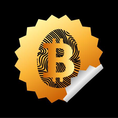 bit: bit coin design, vector illustration