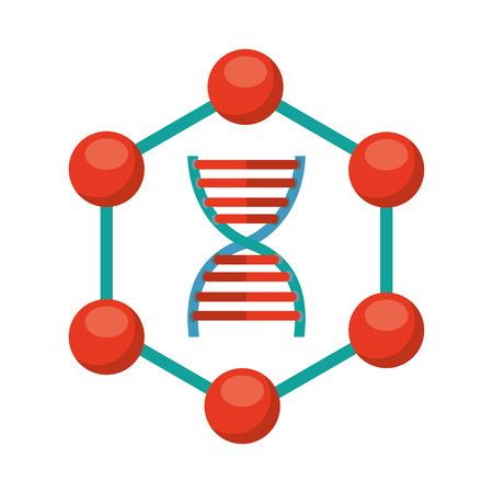 adn: laboratorio icono de diseño, ilustración vectorial