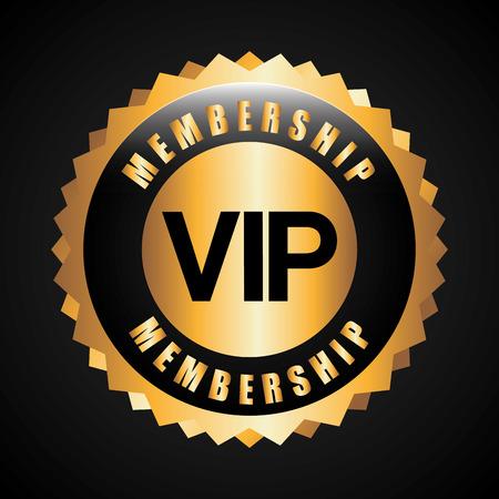 vip symbol: vip card design, vector illustration