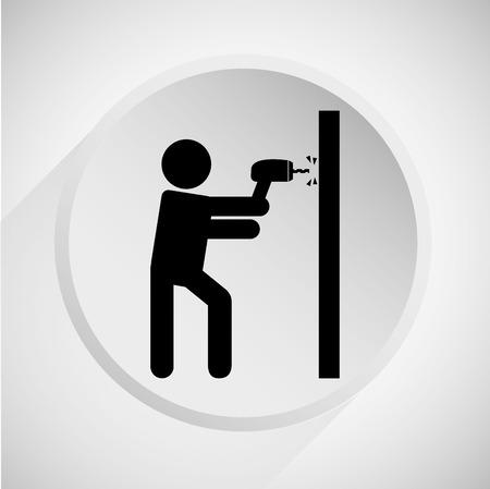 construction icon: construction icon design, vector illustration