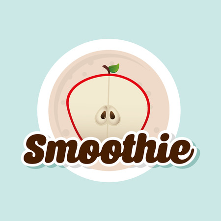 smoothie: smoothie fruit  design, vector illustration