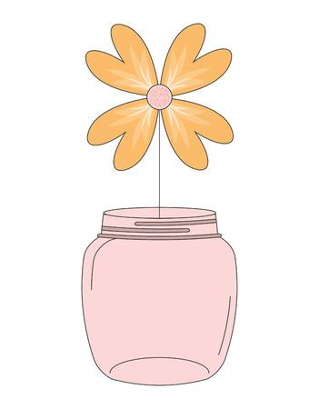 mason: mason jar design, vector illustration Illustration