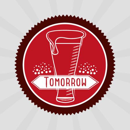 date stamp: cold beer design, vector illustration