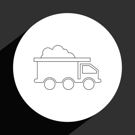 mining industry design, vector illustration