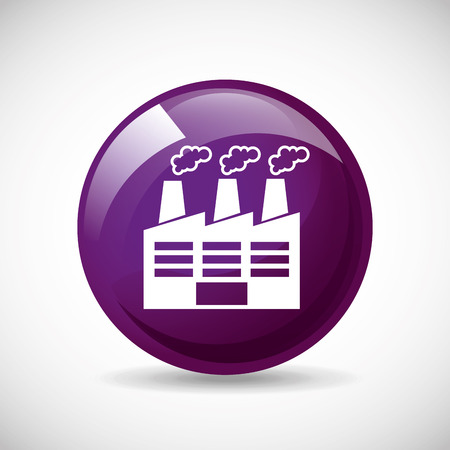 round button: factory icon design, vector illustration
