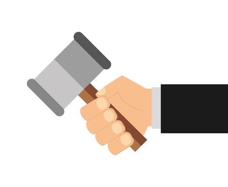 rechtvaardigheid pictogram ontwerp, vector illustratie