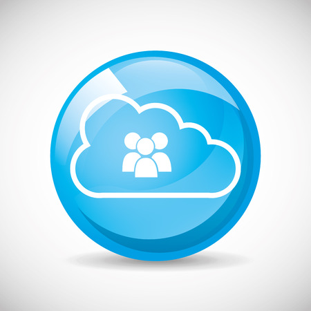 cloud computing design, vector illustration Vector