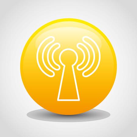 antena: wifi connection design, vector illustration  Illustration