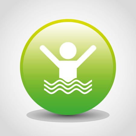 swiming: insurance icon design, vector illustration