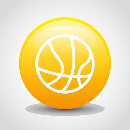 balon de basketball: deporte icono de diseño, ilustración vectorial