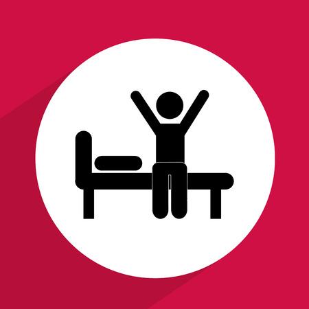 morning routine: human activity design, vector illustration