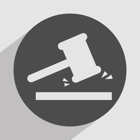 ultimatum: justice icon design, vector illustration  Illustration