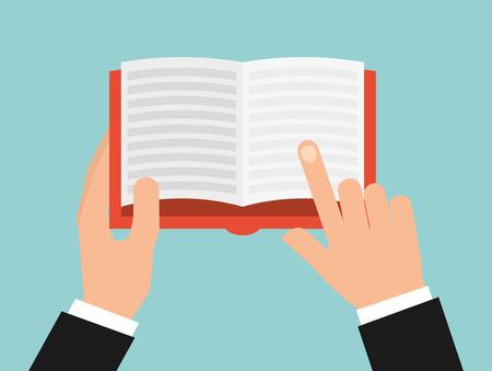 book reader: book reader design, vector illustration