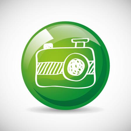 capturing: camera icon design, vector illustration