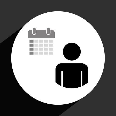 calandar: business icon design, vector illustration  Illustration