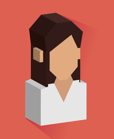 perpective: People design over red background, vector illustration.