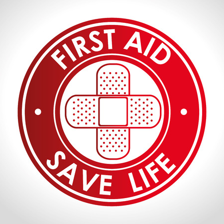 First aid design over white background, vector illustration.