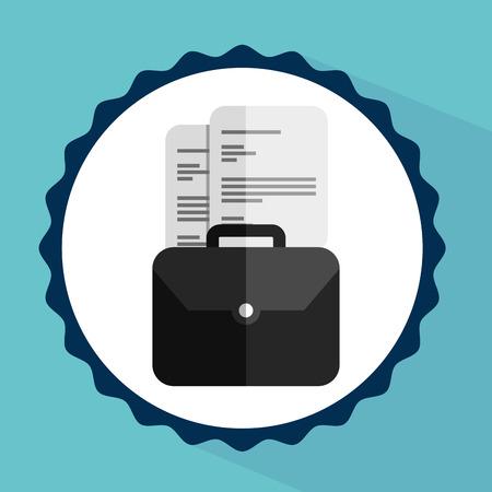 signing document: document concept design, vector illustration  Illustration