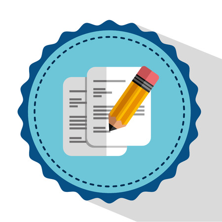 signing papers: document concept design, vector illustration  Illustration