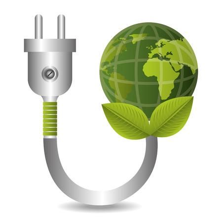 Green energy design, vector illustration  Ilustracja