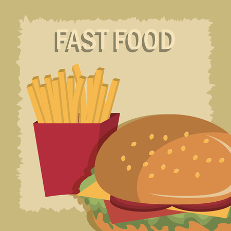 nutritive: Food design over yellow background, vector illustration.