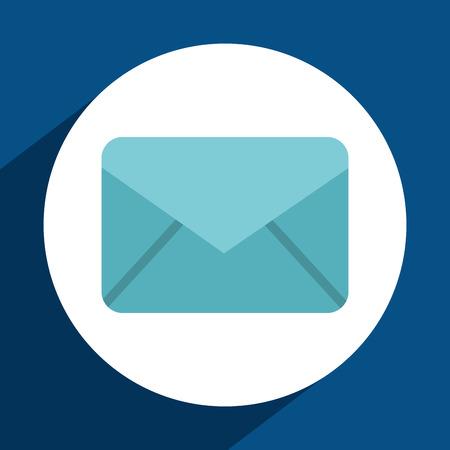 envelope icon: envelope icon design, vector illustration  Illustration