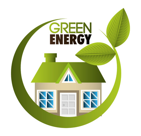 groene energie: Green energy design, vector illustration  Stock Illustratie