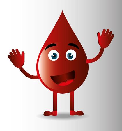 Blood design over white background, vector illustration. Vector