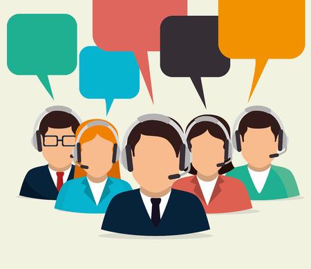 bubble people: Customer design over beige background, vector illustration.