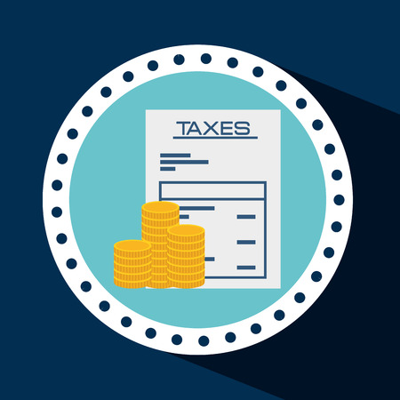 irs: taxes concept design, vector illustration
