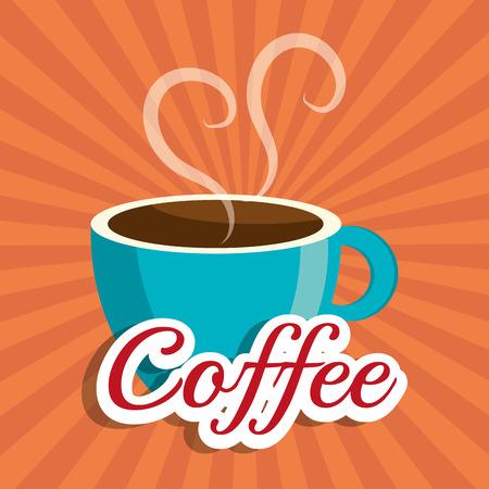 illustation: Coffe design over orange background, vector illustation. Illustration