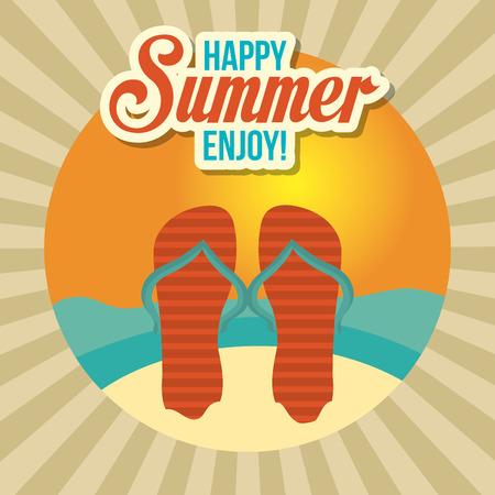 cc: Summer digital design, vector illustration