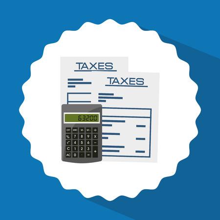 taxation: taxes concept design, vector illustration