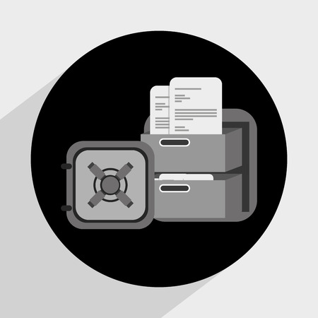 signing papers: document concept design, vector illustration