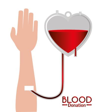 blood transfer: Blood design over white background, vector illustration.