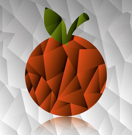 Fruit design over gray background, vector illustration. Reklamní fotografie - 41430261
