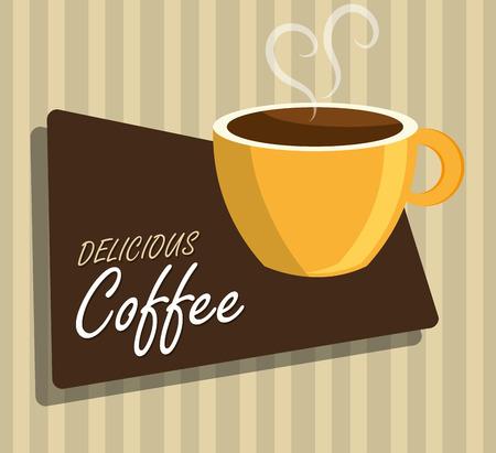 illustation: Coffe design over beige background, vector illustation.