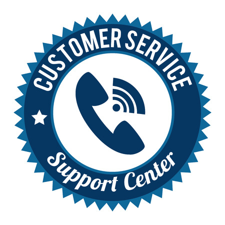 help center: Customer design over white background, vector illustration.