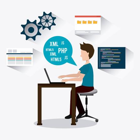 Software digital design, vector illustration eps 10 Illustration
