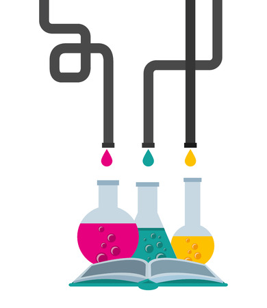 laboratory concept design, vector illustration eps10 graphic Ilustrace