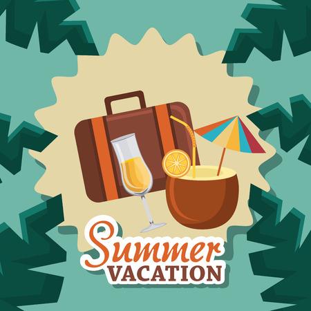 cc: Summer digital design, vector illustration eps 10